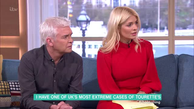 Watch The Man With One of the UK's Most Severe Cases of Tourette's | This Morning GIF on Gfycat. Discover more Tourettes, celebrity, celebs, chat show - topic, chat shows - topic, eamonn holmes, holly willoughby, interview, phillip schofield, ruth langsford, talk shows - topic, this morning GIFs on Gfycat