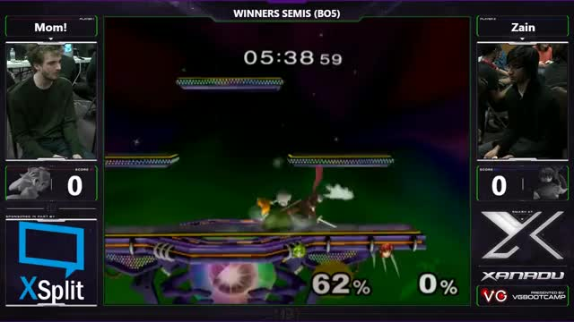 S@X 184 - Mom! (Peach) Vs. SSI | Zain (Marth) - SSBM Winners Semis - Smash Melee