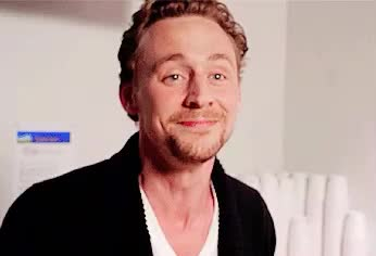 cute, funny, hiddleston, hilarious, joke, laugh, lol, loud, out, smile, tom, Tom's laughing GIFs