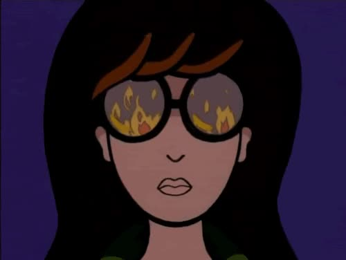 Watch and share Daria Morgendorffer GIFs and Dumpster Fire GIFs by Reactions on Gfycat