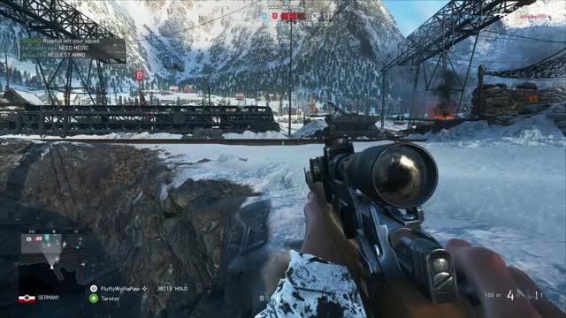 Battlefield V Open Beta - stuck between shore and boat GIF