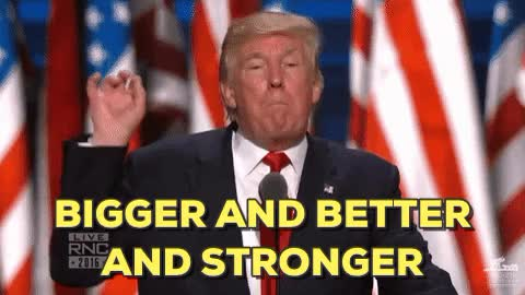 Watch and share Trump Huge GIFs on Gfycat