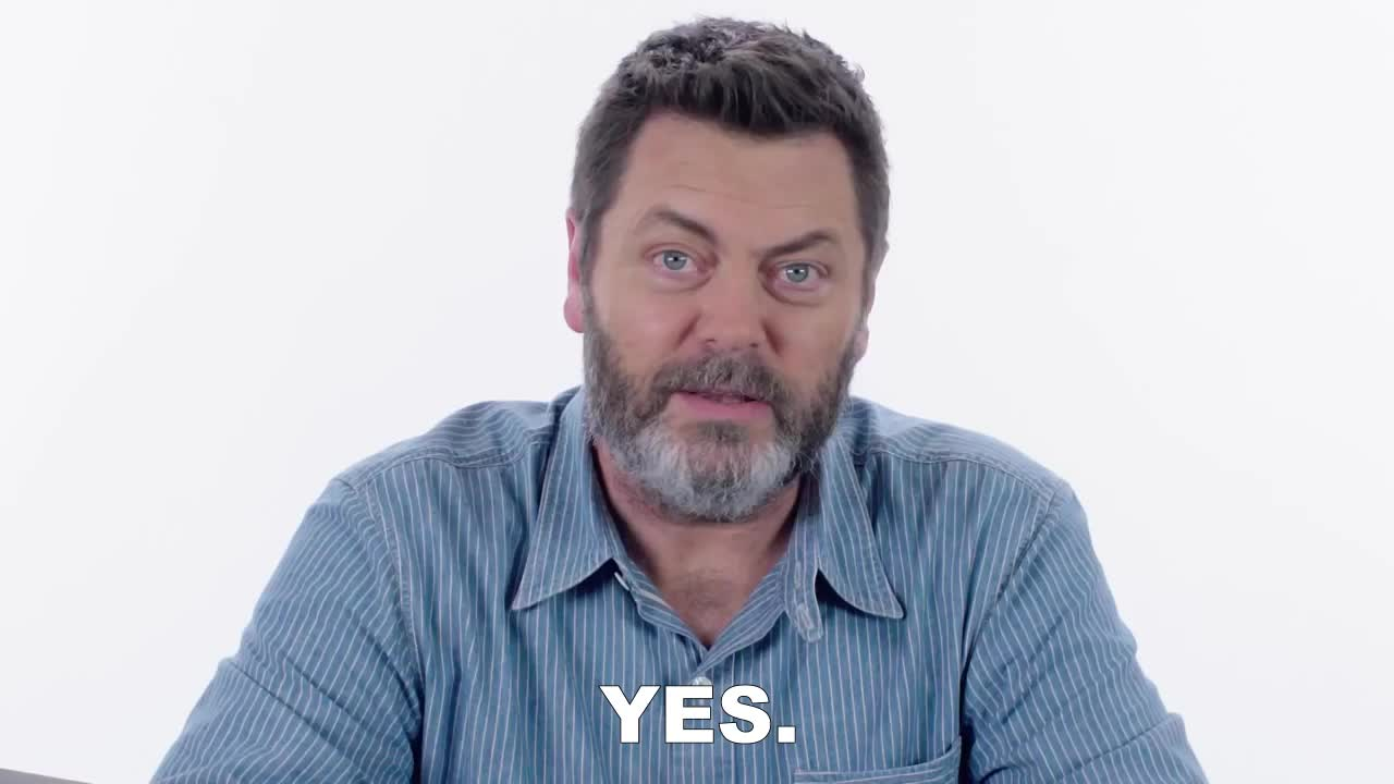 GIF Brewery, nick-offerman-answers-woodworking-questions-from-twitter-tec, YES. GIFs