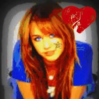 thumps up if you on  photo: Painted Miley MileyMiles2Go-1.gif