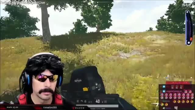 DrDisRespect's reaction to the new red zone sound