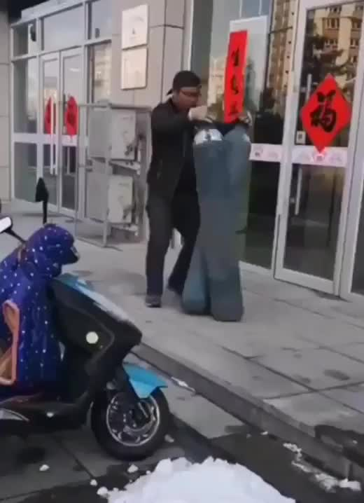 Transporting gas cylinders GIFs