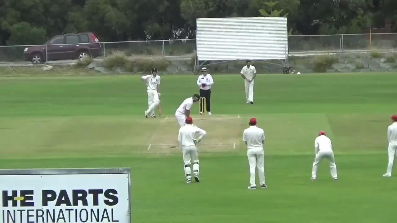 australia, backflip, celebration, cricket, hattrick, perth, hat-trick celebration from Perth CC's Alex Calmy GIFs