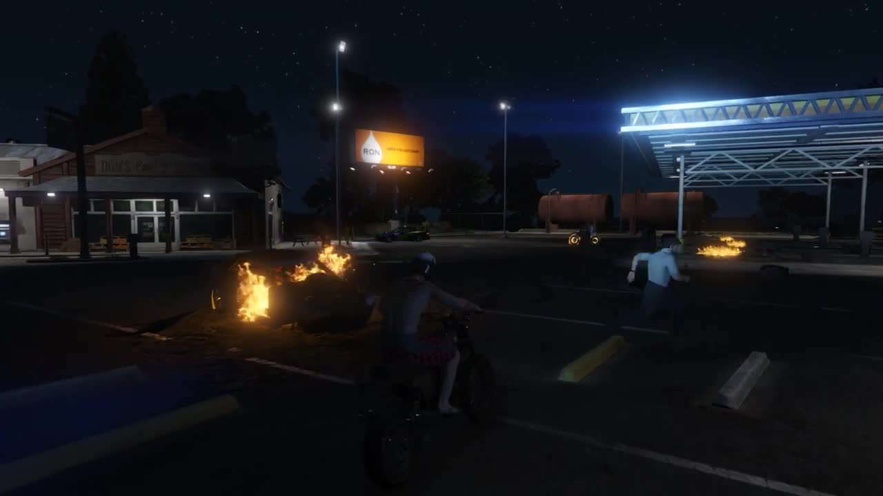 /r/gtaa, grandtheftautoadventures, grandtheftautov, Youll get caught up the the, Ghost Rider! GIFs