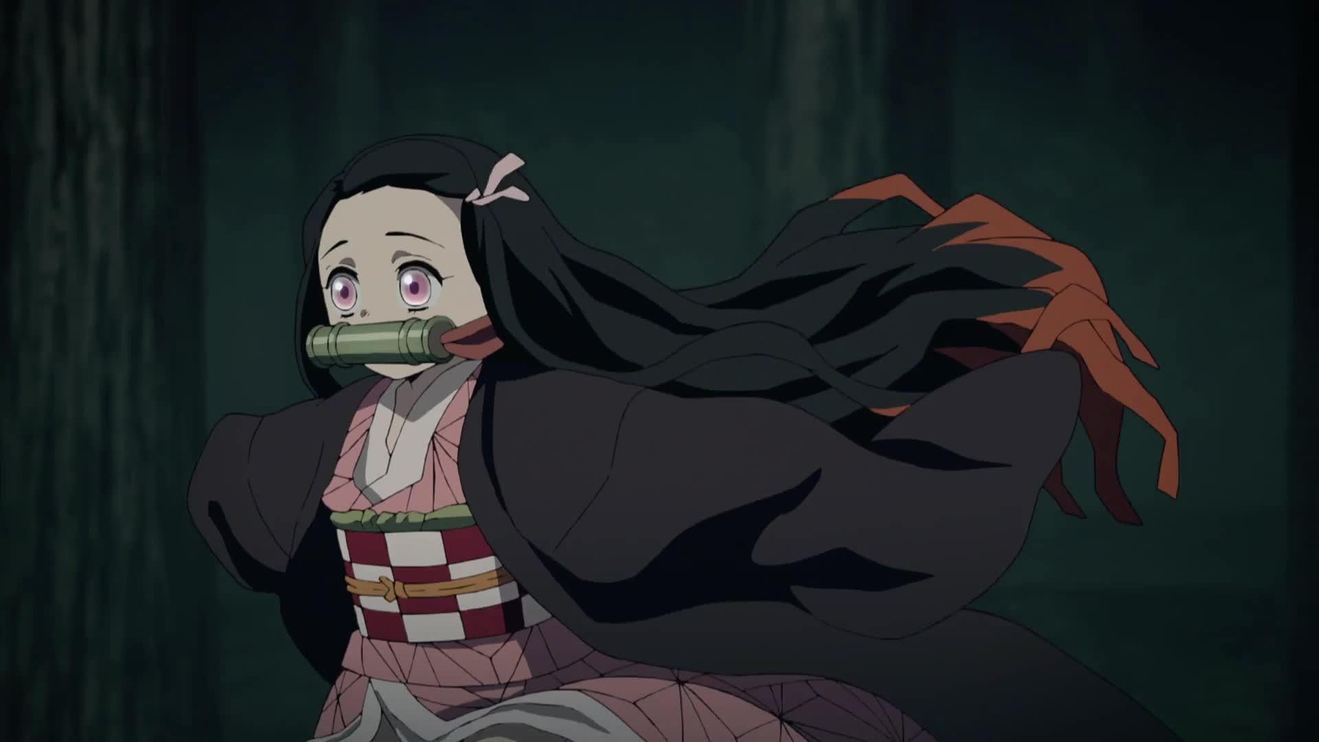 anime, demon slayer, kimetsu no yaiba, nezuko, Nezuko Run owo GIFs