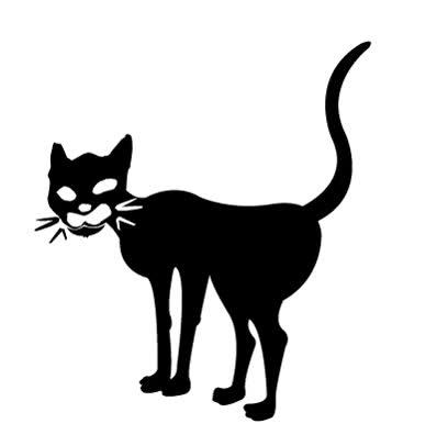 Картинки черных кошек анимация