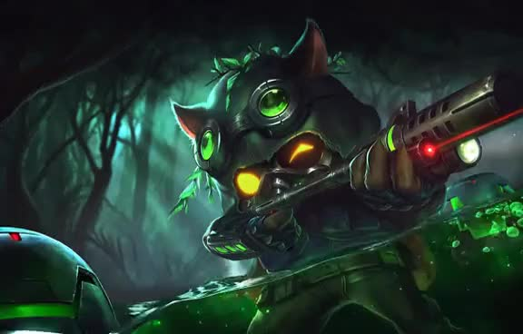 Watch and share Omega Squad Teemo Live Wallpaper (Dreamscene/Android LWP) GIFs on Gfycat