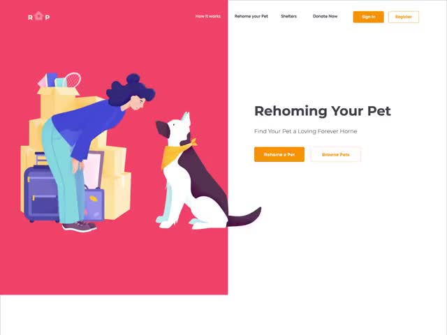 Watch and share Landing Page - RYP GIFs by Alexei Vasyutin on Gfycat