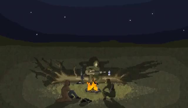 Watch and share S.T.A.L.K.E.R. Campfire Song Pixel Animation GIFs on Gfycat