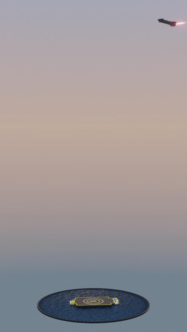 Watch and share Starship Landing GIFs by embersarc on Gfycat