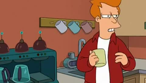 Fry, Futurama, coffee, fry, futurama, leylah, Futurama - OUT OF CREAM !! GIFs