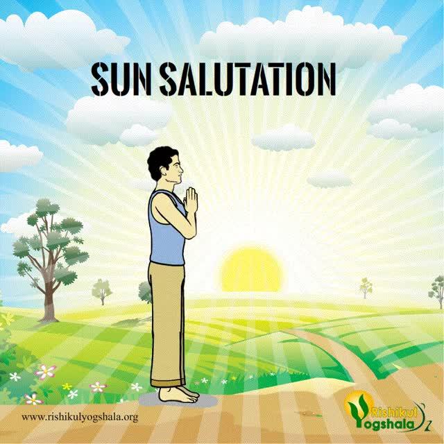 Watch and share Sun Salutation By Rishikul Yogshala GIFs by rishikulyogshala on Gfycat