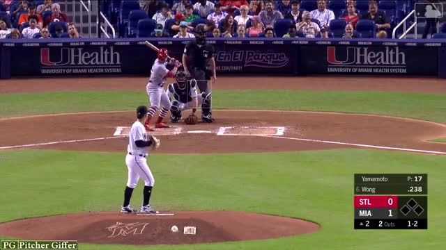 Watch and share Miami Marlins GIFs by Pitcher Giffer on Gfycat