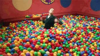 Watch and share Sheldon The Bazinga Ball Pit The Big Bang Theory GIFs on Gfycat