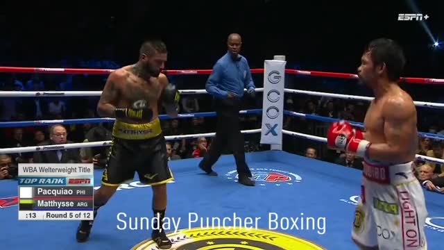 Watch Manny Pacquiao lands (?) on Lucas Matthysse, prompting him to take a knee with just 10 seconds left in round 5 GIF by Tom_Cody (@tomcody) on Gfycat. Discover more Boxeo, Boxing, Lucas Matthysse, Manny Pacquiao GIFs on Gfycat