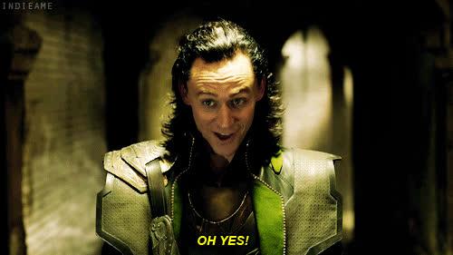 indeed, oh yeah, tom hiddleston,  GIFs