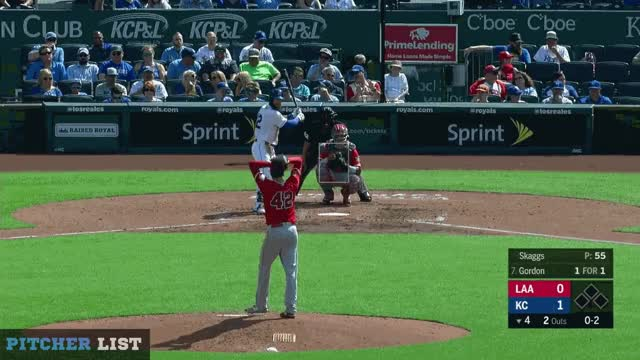 Watch Skaggs CB 6-25-18 GIF on Gfycat. Discover more Kansas City Royals, Los Angeles Angels, baseball GIFs on Gfycat