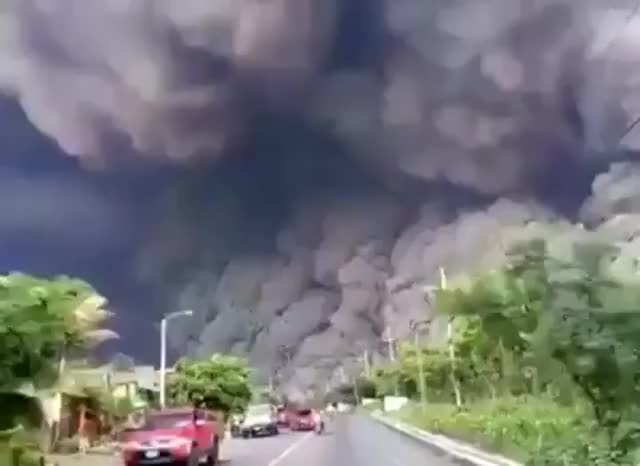 Watch and share People Fleeing A Volcanic Eruption In Guyana Last Year Look Like They're Running From The Apocalypse GIFs by tothetenthpower on Gfycat