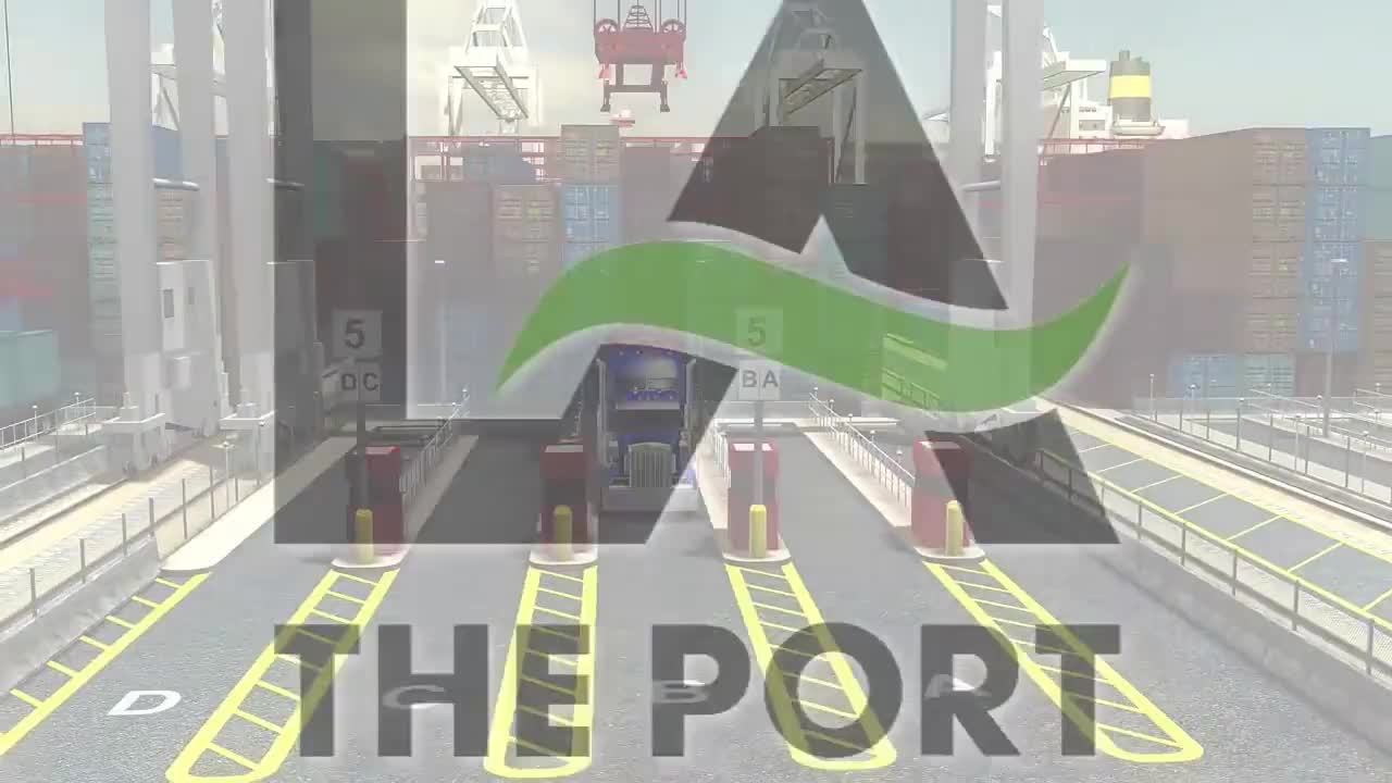 automation, ch2mhill, containerization, pola, ports, visualization, Port of LA Automated Container Terminal GIFs