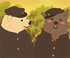 Watch and share Shirokuma X Grizzly GIFs and Shirokuma Cafe GIFs on Gfycat