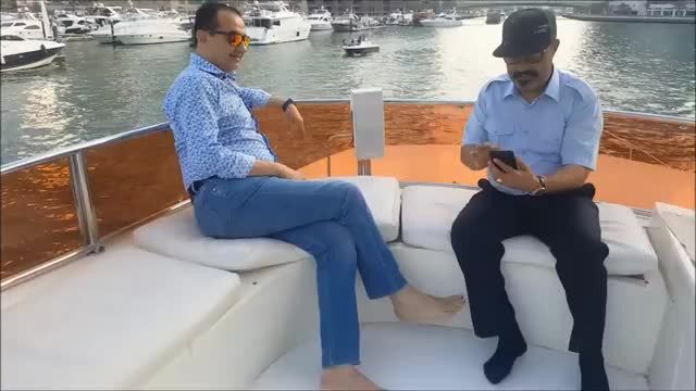 Watch and share Mohamed Dekkak & Abderrahim Khaoutem Cruised In The Bay Of Dubai In A Private Yacht GIFs by Mohamed Dekkak on Gfycat