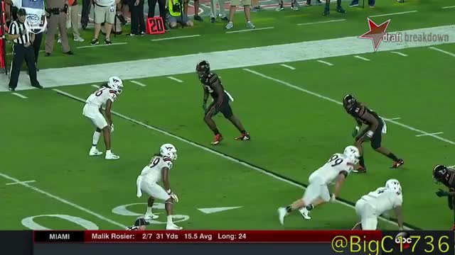 Watch Tremaine Edmunds vs Miami 2017 GIF on Gfycat. Discover more College Football, DraftBreakdown, NFL Draft, Tremaine Edmunds GIFs on Gfycat