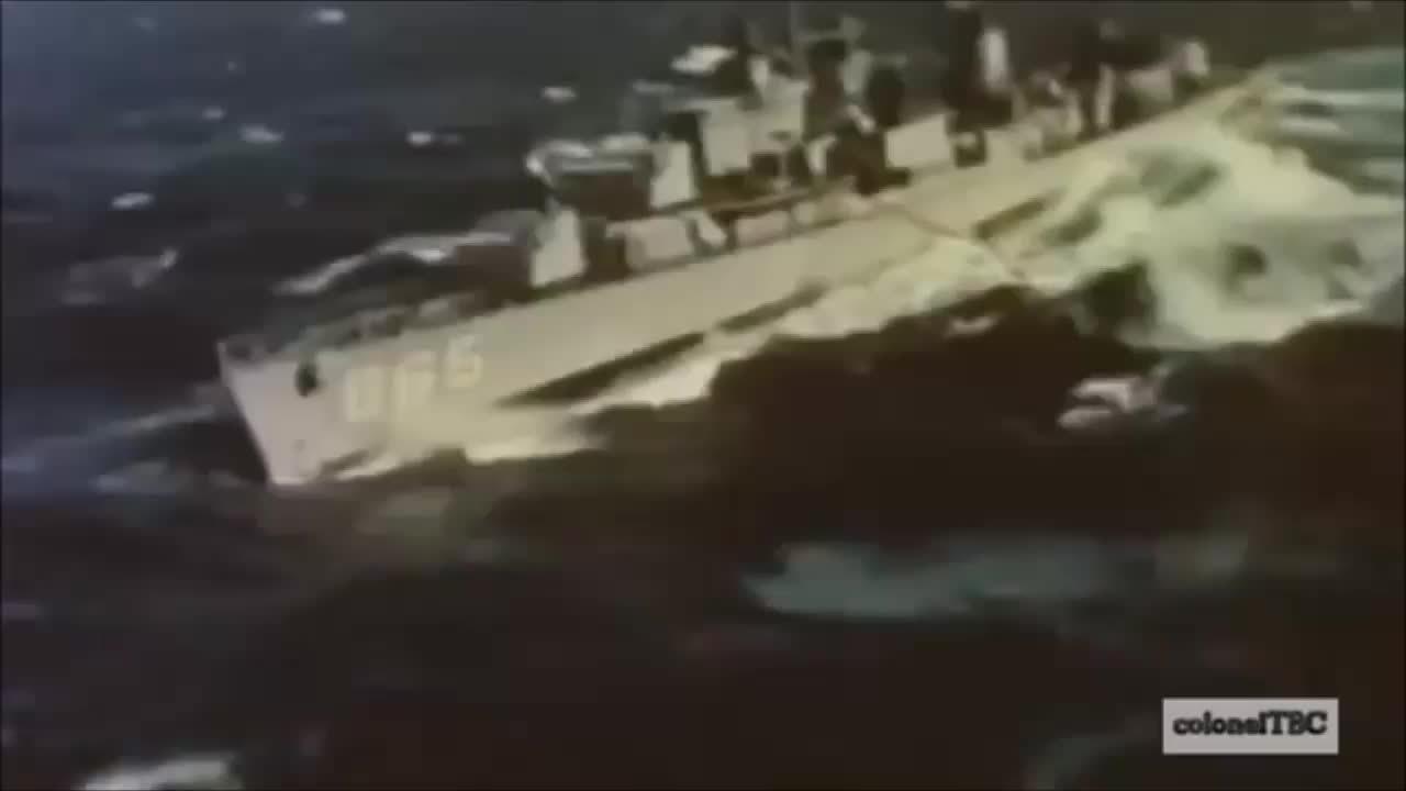 HeavySeas, WorldOfWarships, worldofwarships, USS Charles R Ware UnRep in heavy seas (reddit) GIFs