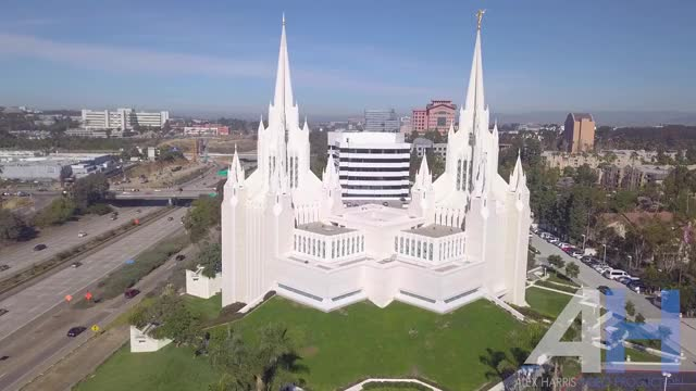 Watch La Jolla mormon temple off I-5 - alex harris drone video camera operator and aerial photography GIF by Alex Harris (@alexharris52) on Gfycat. Discover more related GIFs on Gfycat