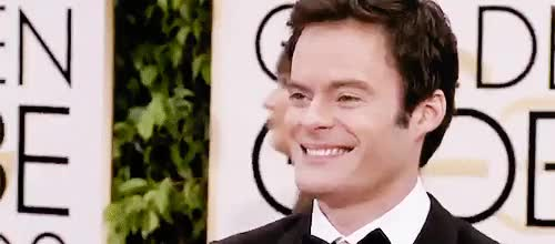 Watch this bill hader GIF on Gfycat. Discover more bill hader, but he did look pretty good, could he look much more uncomfortable, gg, gg15, gif, golden globes, i guess, mine, what a doofus GIFs on Gfycat