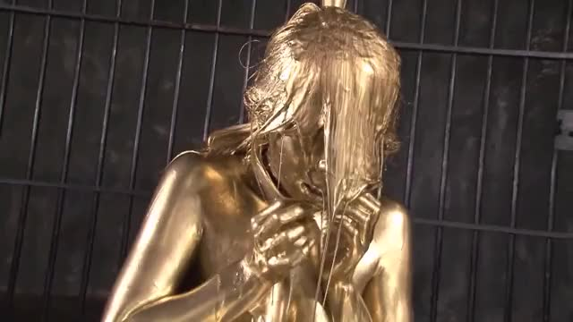 instead of gifting jewelries, filthy rich Japanese gals get showered in gold during their cumming of age ceremony