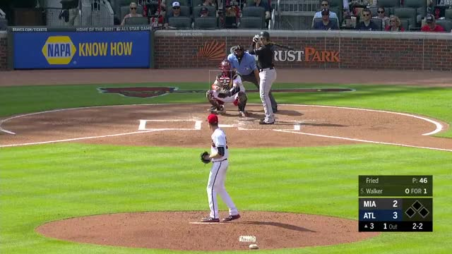 Watch and share Atlanta Braves GIFs and Miami Marlins GIFs on Gfycat
