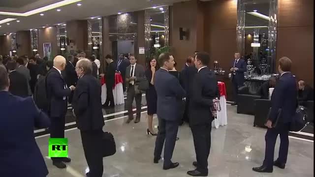 Watch The most important meeting at the G20 summit in Turkey just took place in a hotel lobby (reddit) GIF on Gfycat. Discover more ActLikeYouBelong, Veep, gifs GIFs on Gfycat