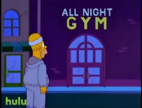 Watch The Simpsons : Homer in the Gym GIF on Gfycat. Discover more related GIFs on Gfycat