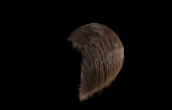 Watch Wind hair Animation - C4D GIF on Gfycat. Discover more related GIFs on Gfycat