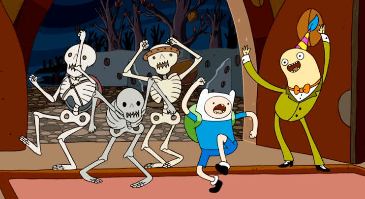 adventure, bailer, cartoon, celebrate, crazy, dance, excited, favim, finn, happy, happy new year, hard, human, network, new, party, the, time, year, Adventure time dancing GIFs