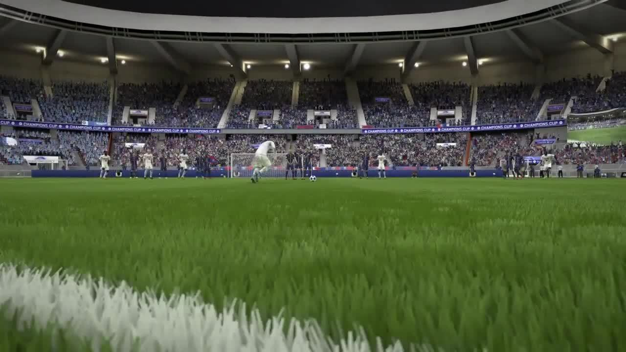 FifaCareers, fifacareers, Eriksen free kick to beat PSG and got to the Champions Cup final (reddit) GIFs