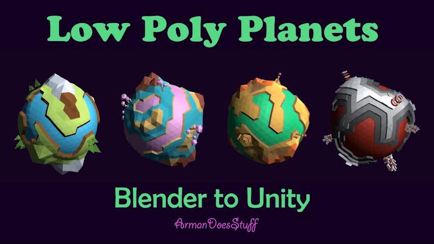 armandoesstuff, devblogs, gamedevscreens, Low Poly Planets GIFs