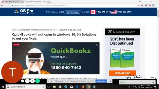 quickbooks pro for windows 10