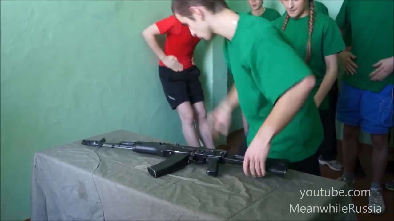 MilitaryGfys, anormaldayinrussia, AK-74 field strip competition at Russian School (reddit) GIFs