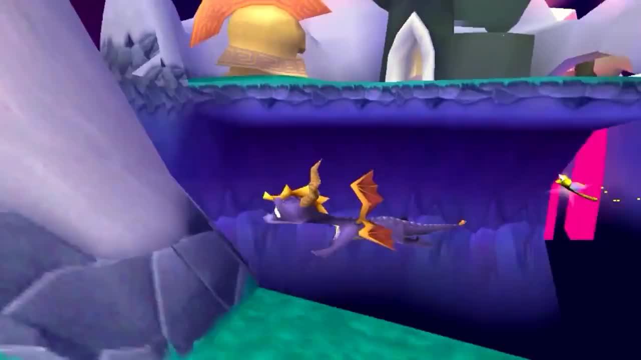 Spyro 3 - Spyro 1 Charge Jumping? GIFs