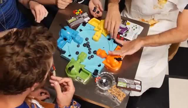 Playing Hungry Hungry Hippos Board Game! GIFs