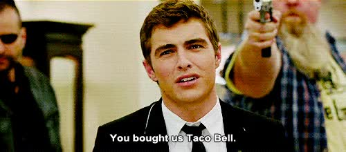 Watch and share Dave Franco Taco Bell GIFs on Gfycat