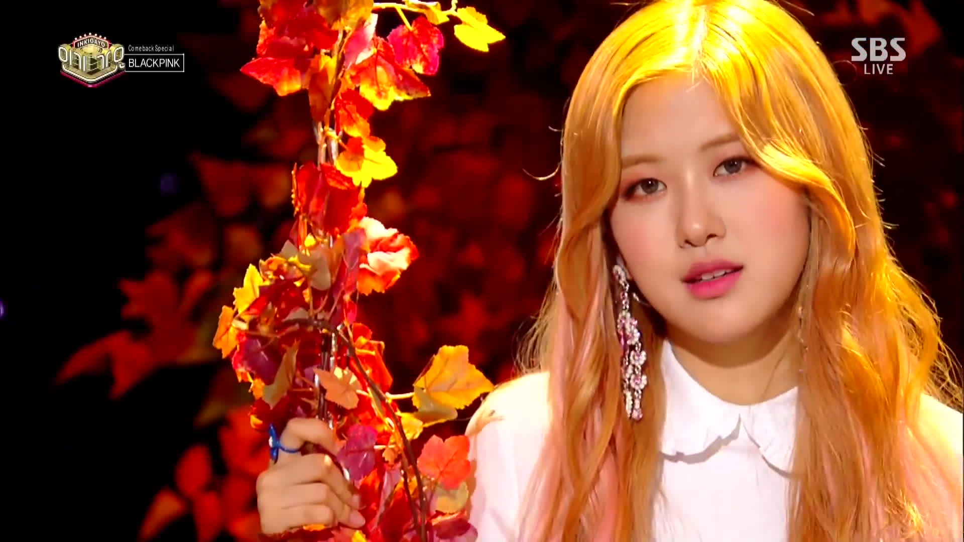 Blackpink Stay 1106 Sbs Inkigayo Rose Pretty Gif By