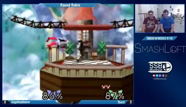 SL SSB64 #119 - Gogoboydancer (C.Falcon) vs Thord (C.Falcon) - Round Robin GIFs