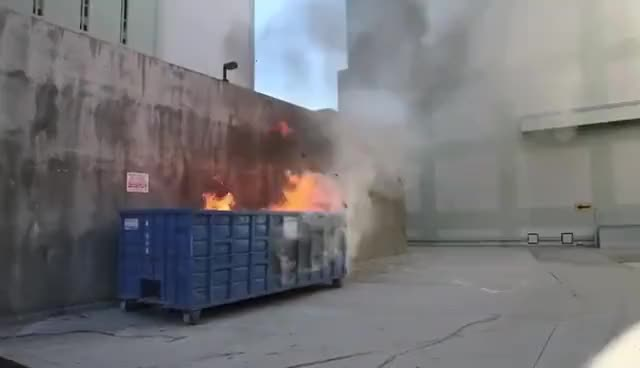 Watch and share Dumpster GIFs and Fire GIFs on Gfycat