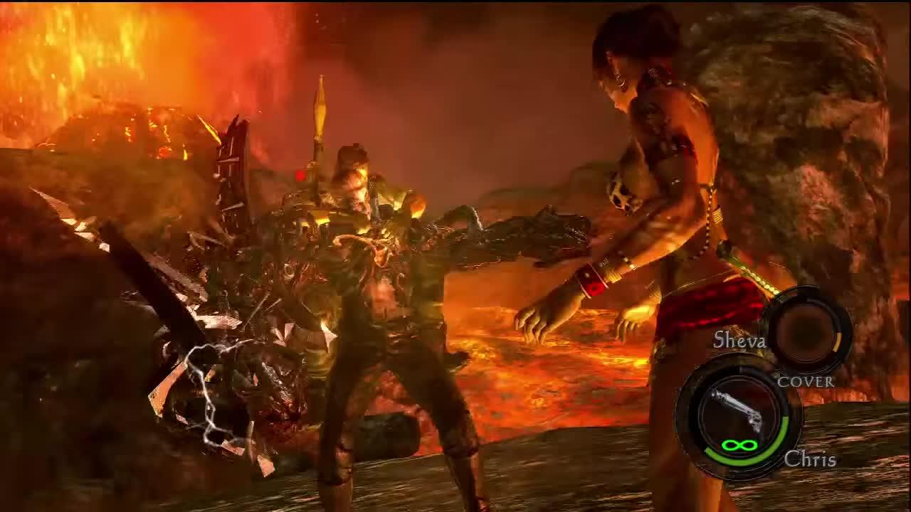 Resident Evil 5 Wesker Final Boss Fight Part 2 Hd Gif Gfycat